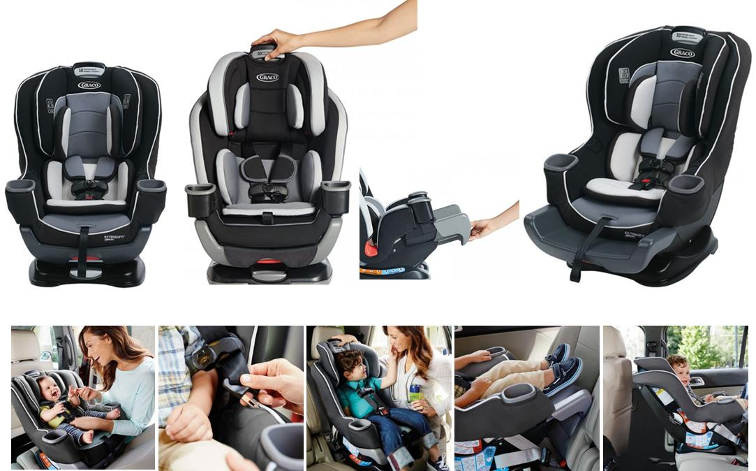 GRACO EXTEND2FIT CONVERTIBLE CAR SEATP Website Product Size