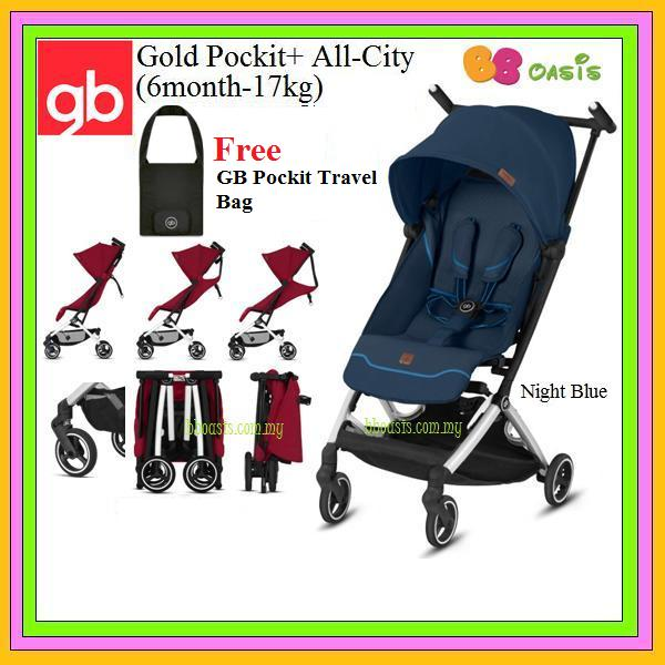GB Gold Pockit+ All-City -Night Blue (Free Bag)