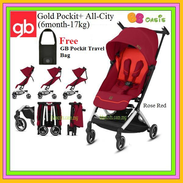GB Gold Pockit+ All-City -Rose Red (Free Bag)