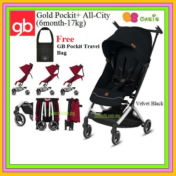 GB Gold Pockit+ All-City -Velvet Black (Free Bag)
