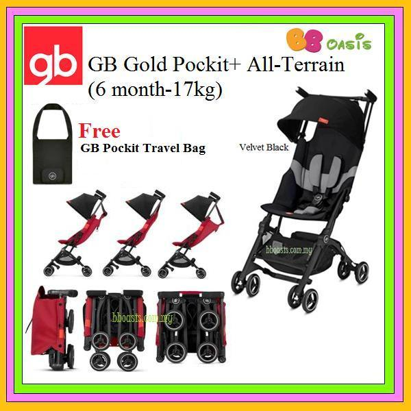 GB Gold Pockit+ All Terrain – Velvet Black (Free Bag)