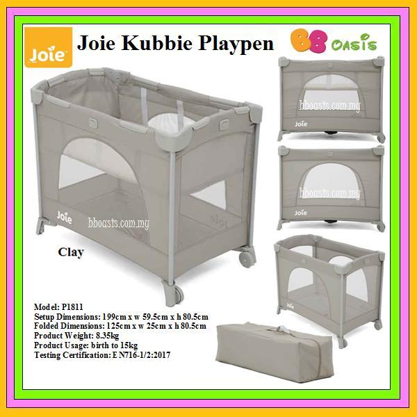 Joie Kubbie Playpen -Clay