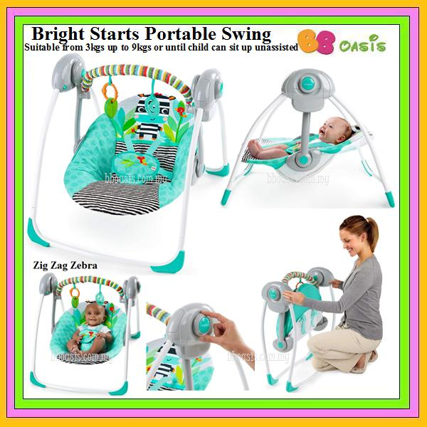 Bright Starts Portable Swing – Zig Zag Zebra