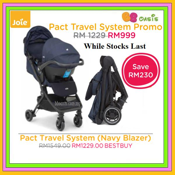 Travel System Joie Pact -Navy Blazer