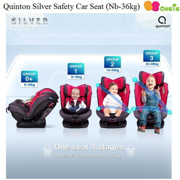 Quinton Silver Safety Car Seat-1
