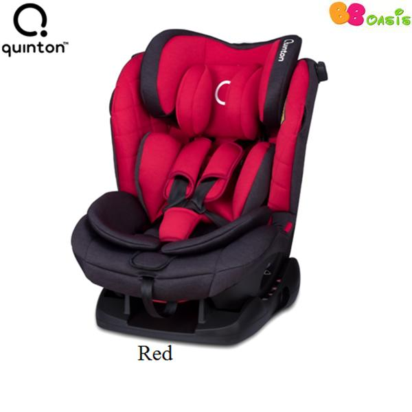 Quinton Silver Safety Car Seat -Red